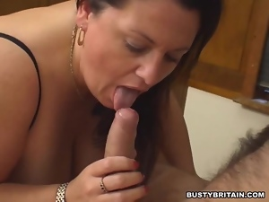 BBW gobbles down hard cock In Classroom