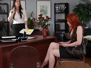 Lesbian office encounter