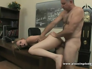 Teen slut will do anything to keep the job