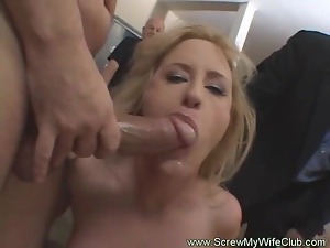 Hot Redhead Swinger Wife Screwing