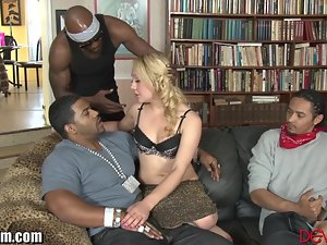 DevilsFilm Interracial Blonde Gangbang