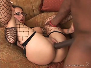 Veronica Jett takes this huge dick deep in her wet slot