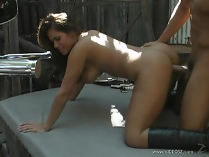 Horny bitch enjoys getting fucked from behind