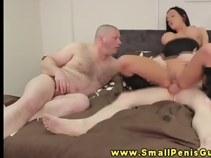 Dominant makes fun of small dick