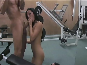 Nadia Nitro noshing at the gym