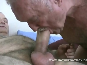 Fat Daddy Gets Barebacked By Mature Friend