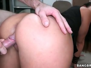 Kelsi Monroe doggystyle with a facial