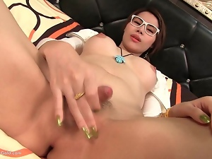 Ladyboy Grace Coed Cutie Blowing
