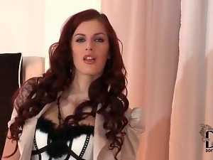 Breathtaking striptease from a classy redhead