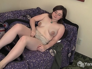 MILF Dawn Playing With Her Bushy Pussy