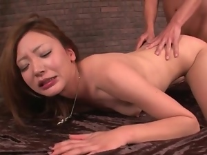 His hard dick in her Japanese mouth and pussy