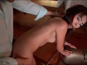 Asian in chains fucked in the tight ass