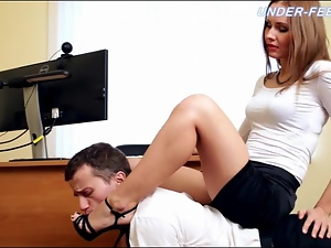 Secretary makes her boss submit to her