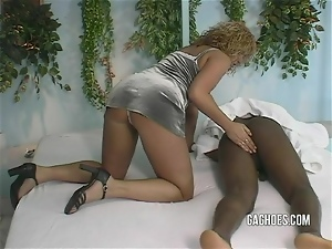 Tight Girl Gags Hard On BBC