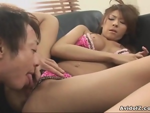 Japanese babe gets her hairy cunt ploughed Uncensored