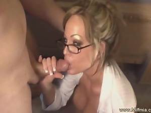 Bad MILF Secretary Must Pay