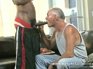 Old Guy Gets Fucked By Massive Black Cock