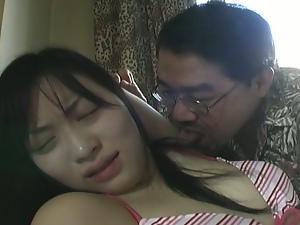 Horny guy fucks asian slut in the armpits