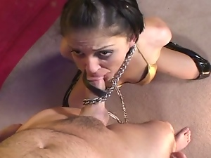 Brunette bitch loves ass creampies