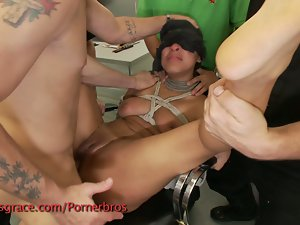 She loves being a sex toy in a hot party!