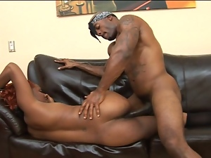 Black girl renea gets a hard-fucking from threat.
