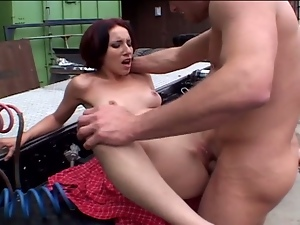 Maggie star hitchhiking and gets fucked outdoor