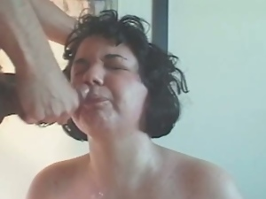 Chubby amateur wife suck for facial