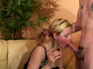 Interracial threesome gets a lot of anal action