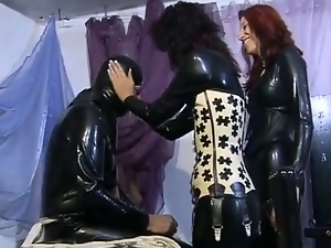 Two spoiled bitches in sultry femdom sex
