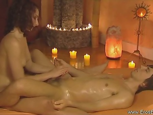 Hot erotic massage for the penis
