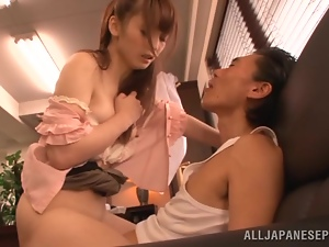 Cute Japanese chick gets fucked by perverted fuck