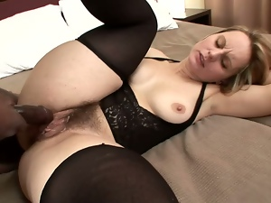 Blonde mom Magda sucks a BBC after getting stunningly fucked