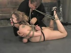 Brooke Bound gets hog tied and toyed in bondage video