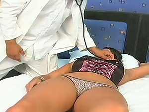 Curvy Latina Vanessa gets her pussy and ass smashed