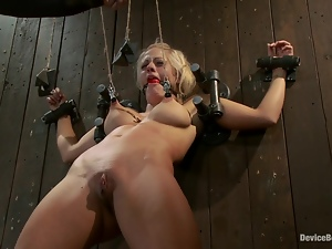 Holly Heart the hot blonde gets chained and humiliated
