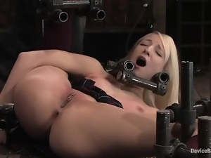 Flexible college siren gets bondaged in the iron bars