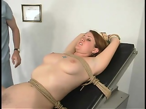 Nasty Dusty gets toyed and dominated by a doctor