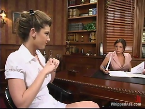 Hot Kayla Paige gets humiliated by her female boss