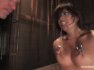 Satine Phoenix gets her mouth and snatch drilled hard in a jail