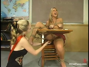 Beautiful Submissive Blonde Getting Dominated by Teacher in Class