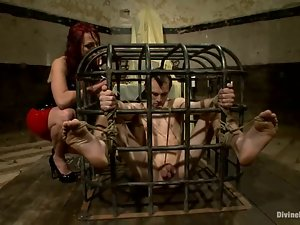 Blake and Nicki Hunter enjoy fucking each other's holes in BDSM scene