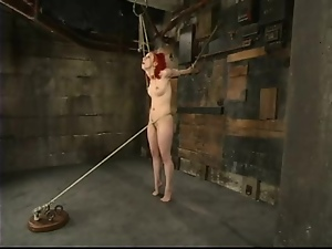 Juicy redhead Sabrina Sparx gets tied and gagged