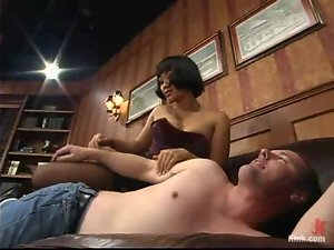 Horny Asian mistress Dragon Lily is on Jon's cock