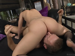 Lustful Emylia Argan gets butt fucked brutally by Rocco