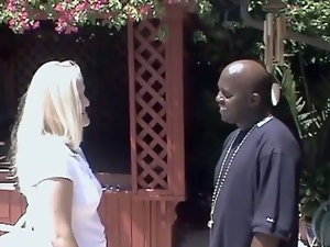 A very lusty blond is stunning with her black fucker