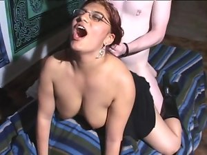 Chubby redhead bitch gets her cunt fingered and fucked hard