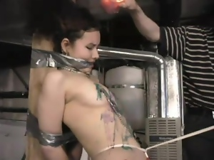 Sexy slave Shikira gets waxed all over her body