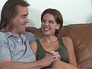 Sexy milf blows and gets her vag pounded in missionary position