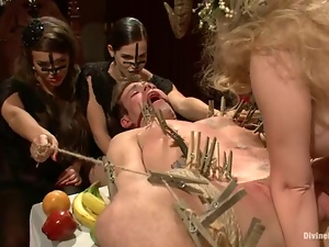 Sexy vampires Aiden Starr and Bobbi Starr torment and fuck a guy