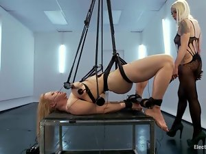 Lorelei Lee ties Darling up and toys her vagina